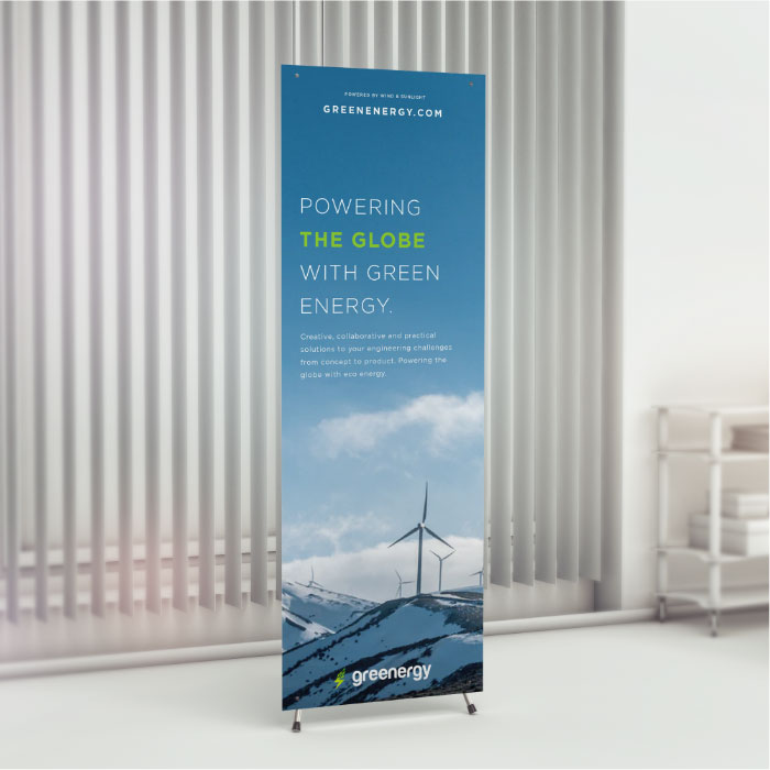 "Image of item X-Stand Banners w/ Stand - 24""x63"""