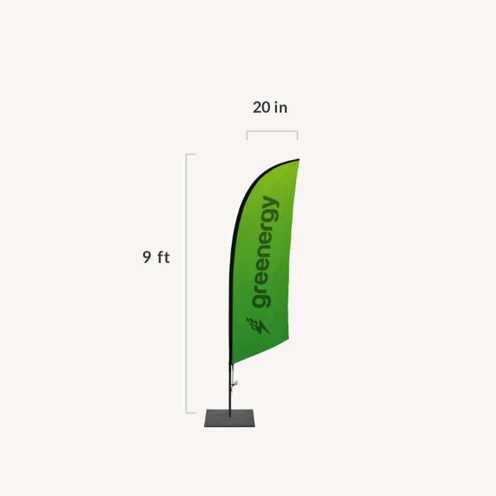 Image of item Feather Angled Flag - (Small)