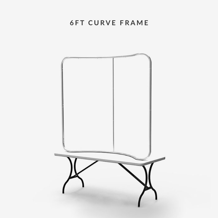 Image of item 6ft Curve Tension Fabric Display w/ Frame