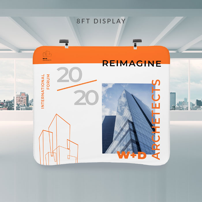 Image of item 8ft Curve Tension Fabric Display w/ Frame
