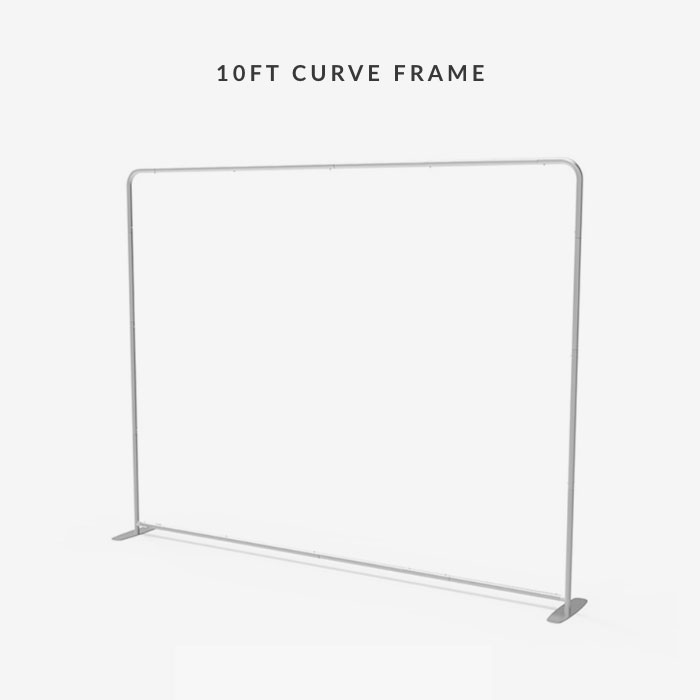 Image of item 8ft Straight Tension Fabric Display w/ Frame