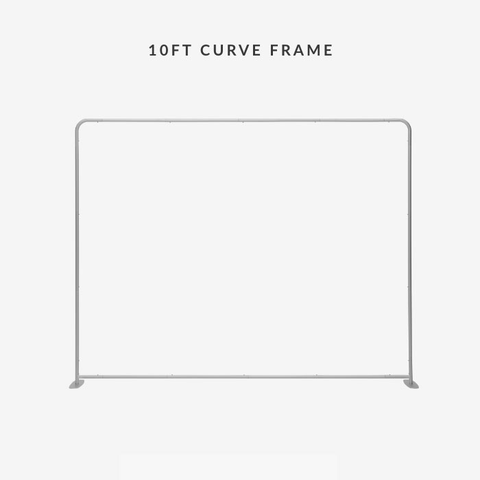Image of item 10ft Straight Tension Fabric Display w/ Frame