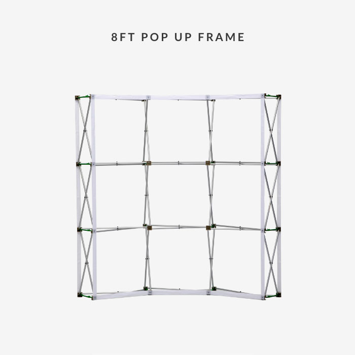 Image of item 8ft Curve Velcro Fabric Pop Up Display w/ Frame