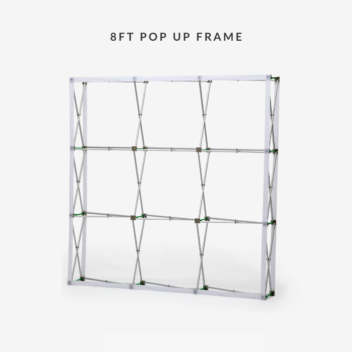 Image of item 8ft Straight Velcro Fabric Pop Up Display w/ Frame