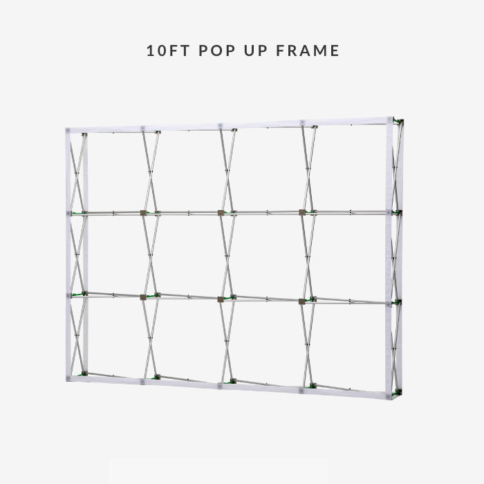 Image of item 10ft Straight Velcro Fabric Pop Up Display w/ Frame