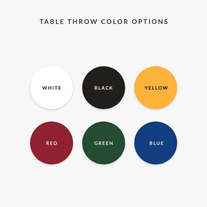 Image of item Solid Color Table Throw