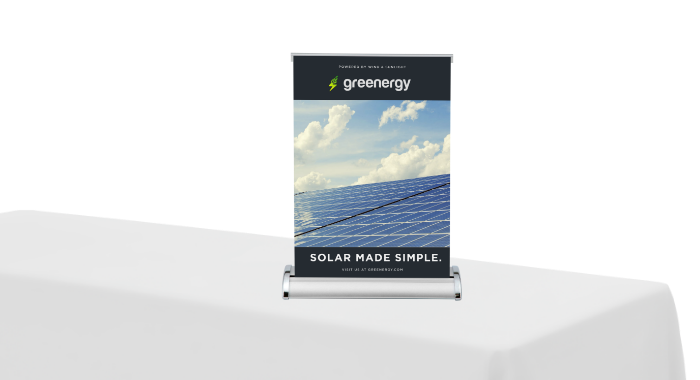Image of item Table Top Banner Stand