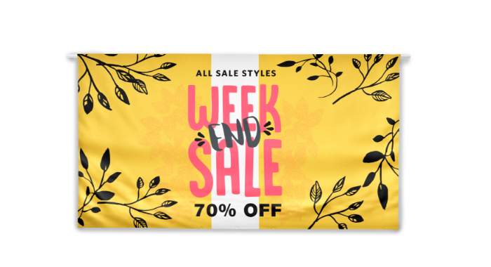 Image of item Fabric Banner